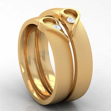 ring designs gold enement for couple in italy - Wedding Rings For Couples